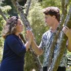 Romeo and Juliet, aka Nick Tipa and Emily McKenzie, rehearse in Woodhaugh Gardens. Photos: Gerard...
