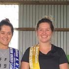 Winners and placegetters of the junior woolhandling final at the Southland Shears and New Zealand...