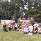 Nineteen young people attended a stock handling and judging camp at the Skedgwell farm near...