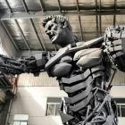 The sculpture shows a man in the image of former All Black captain Richie McCaw and cost about ...