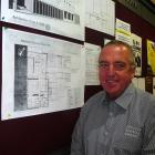 New Ashburton Club and MSA general manager Stuart Geddes with the design plan for the redevelopment.