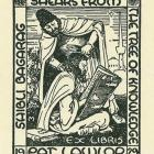 This bookplate was designed for Wellington writer Pat Lawlor. PHOTO: SUPPLIED