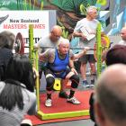 Bruce Park lifts in the squat section of the powerlifting at Propel Gym on Saturday. PHOTO:...