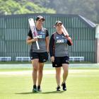 White Ferns duo Suzie Bates (left) and Katey Martin will play their first cricket international...