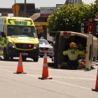 Emergency services attend a crash on Alexandra's Centennial Ave this afternoon. Photo: Alexia...
