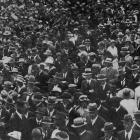 A section of the crowd at the Dunedin Trotting Cup at the Forbury Park Trotting Club's summer...