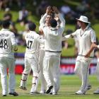 Tim Southee picked up 3 wickets in the first session of day 2 to help dismiss India for 165....