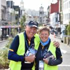 English couple Ross and Carol Haddow have taken time out from a holiday to volunteer at the New...