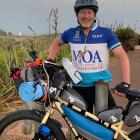 Dunedin researcher Prof Haxby Abbott prepares to leave Cape Reinga yesterday. PHOTO: SUPPLIED