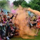 Throwing colour at last year's Rangiora Festival of Colour in Victoria Park. The popular family...