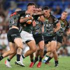 Jordan Riki got his first taste of the big time during an impressive 34 minutes for the Maori...