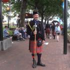 Canterbury Caledonian piper Len Ineson has been playing the pipes for 50 years. Photo: Gregor...