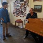 Dunedin man Adrian Mann (left) was shocked when Queen's keyboardist Spike Edney turned up to play...