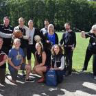 Otago Polytech competitors involved in the Masters Games are (back row, from left) Simon Body,...