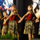 Arrowtown School kapa haka group (from left) Sabina Wright (12), Finn Henderson (11), Annie...