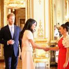 GirlBoss founder Alexia Hilbertidou, of Auckland, meets the Duke and Duchess of Sussex  in 2018...