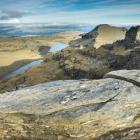 Lake Scott and Blue Lake, on Glenaray Station in the Garvie Mountains, would lie within the...