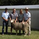 Nine Mile Station held its annual merino ram sale last week. With the top selling ram are (from...