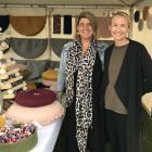Jo Ruddenklau and Hannah Crossan sell their New Zealand wool homewares at Southern Field Days...