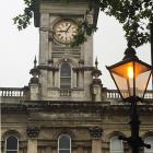The Dunedin Municipal Chambers clock yesterday showed a time of 9.05am while the time on a...