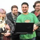 Global Game Jam participants (from left) Daisy Amos, Adam Campbell, Tim Neumegen, Tate Kennington...