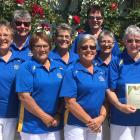 Winners of the recent women's quadrangular tournament in Christchurch are (from left) Malia...