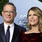Tom Hanks and his wife Rita Wilson. Photo: Reuters
