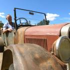 Gordon Souness, of Patearoa, revs the engine on his 1926-27 Ford Model T. Photo: Simon Henderson