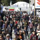 Crowds at the first day of Fieldays. 44th Annual Fieldays held at Mystery Creek, Hamilton. Photo:...