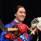 New Zealand under-18 defender Aliyah Christos (16) with the tools of her trade at Queen's High...