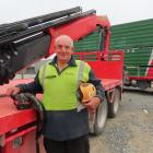 Trevor Begg has parked up his big truck and hiab for the last time.