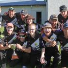 Rejoicing their 74 run win over the Lawrence Lions in the final of the South Otago 40 over...