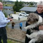 Clutha Mayor Bryan Cadogan, wife Allyson and Maggie the dog launch the ''Clutha Cooee'' campaign...