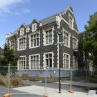 Barriers have gone up around the University of Otago's Consumer and Applied Science building in...