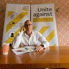 Health Minister David Clark works from his Dunedin home during the Covid-19 lockdown. Photo:...
