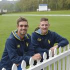 Allrounders Michael Rippon (left) and Nathan Smith put on another crucial lower order partnership...