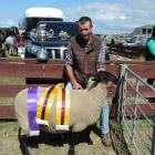 Waitaki Valley farmer Alastair Gibson likes this reserve champion fleece from Hamish and Pip...