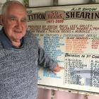 Roddy Moore prepared this commemorative board to mark 50 years of shearing at the Oxford A&P...