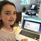 Ellie Sparks, 8, is using educational resources to help with her learning after schools closed on...