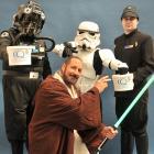 Mark Egginton (centre), of Invercargill, in the role of the venerable if maverick Jedi master Qui...