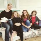 Quarantine Island 2020 artists in residence (from left) Eli Joseph, Jo St Baker, Kirstin Bebell...