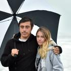 French visitors Brandon Moya and Solene Corbet are worried about finding somewhere to stay during...