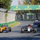 Racing at last year's Australian Formula 1 Grand Prix in Melbourne. Photo: Getty Images