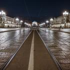 An almost deserted piazza Vittorio in Turin, Italy. Photo: Getty Images