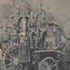 Kaiapoi Volunteer Fire Brigade members with the Shand Mason Steamer in 1874. Photos: Supplied