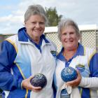 Jan Barclay and Shona Morrison after winning the Dunedin Centre champion of champion women's...