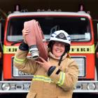 Jude Patterson is the first female chief fire officer in the Lawrence brigade's 127-year history....