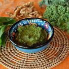 Kale and white miso pesto. Photos: Linda Robertson