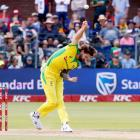 Bowler Kane Richardson has been pulled from the match between Australia and New Zealand.  Photo:...