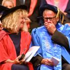 Glenys Ker supports her husband, outgoing Otago Polytechnic chief executive Phil Ker, who was...